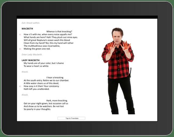 iPad graphic for Macbeth