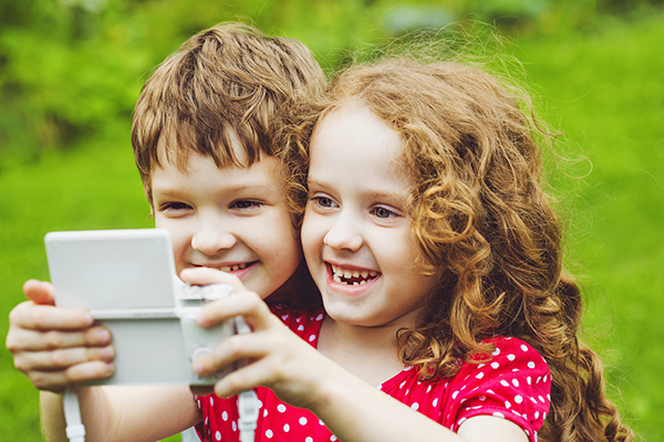 Children taking selfies small