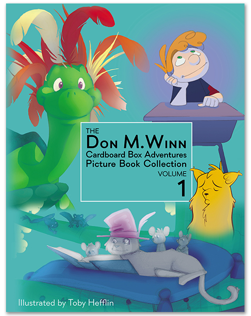 Cover of The Don M. Winn Cardboard Box Adventures Picture Book Collection Volume 1.