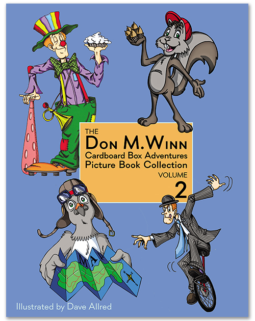 Cover of The Don M. Winn Cardboard Box Adventures Picture Book Collection Volume 2.