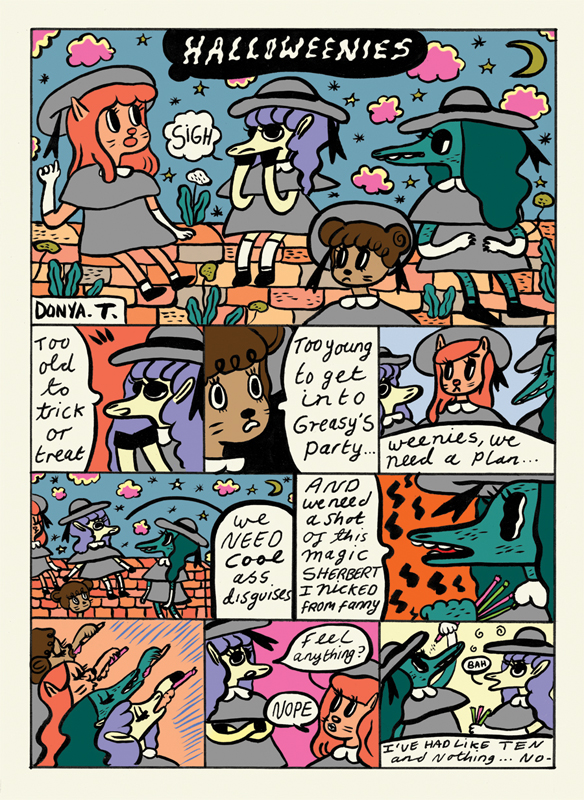 Comic for The Comic Book Slumber Party Halloween zine