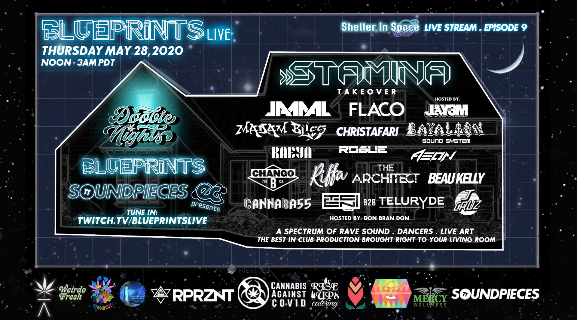 Shelter in Space with Blueprints Entertainment to be Hosted at Doobie Nights
