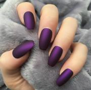 violet matte coffin doobys nails