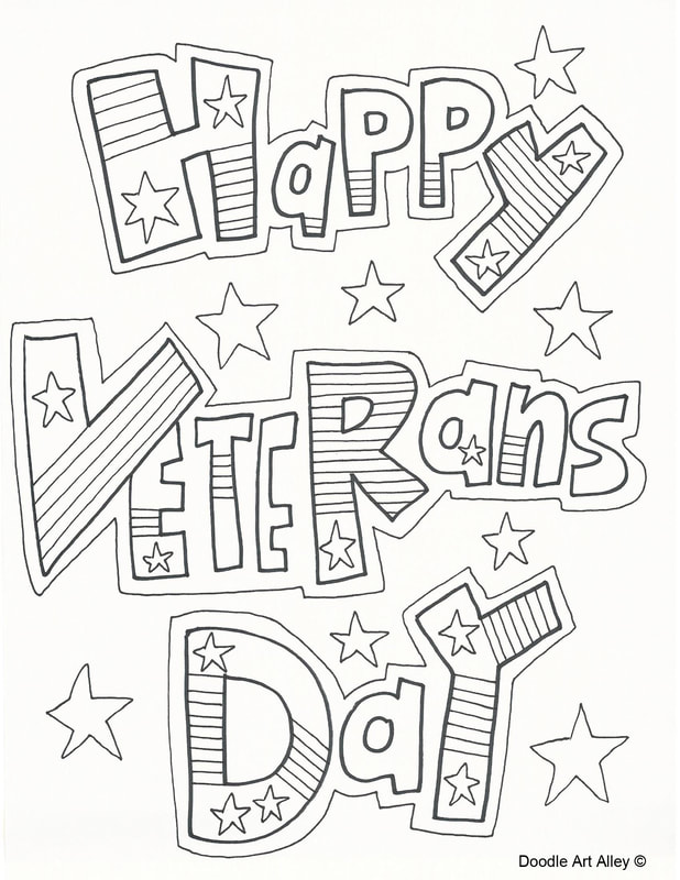 Thank You Veterans Coloring Pages : thank, veterans, coloring, pages, Veterans, Coloring, Pages, DOODLE, ALLEY