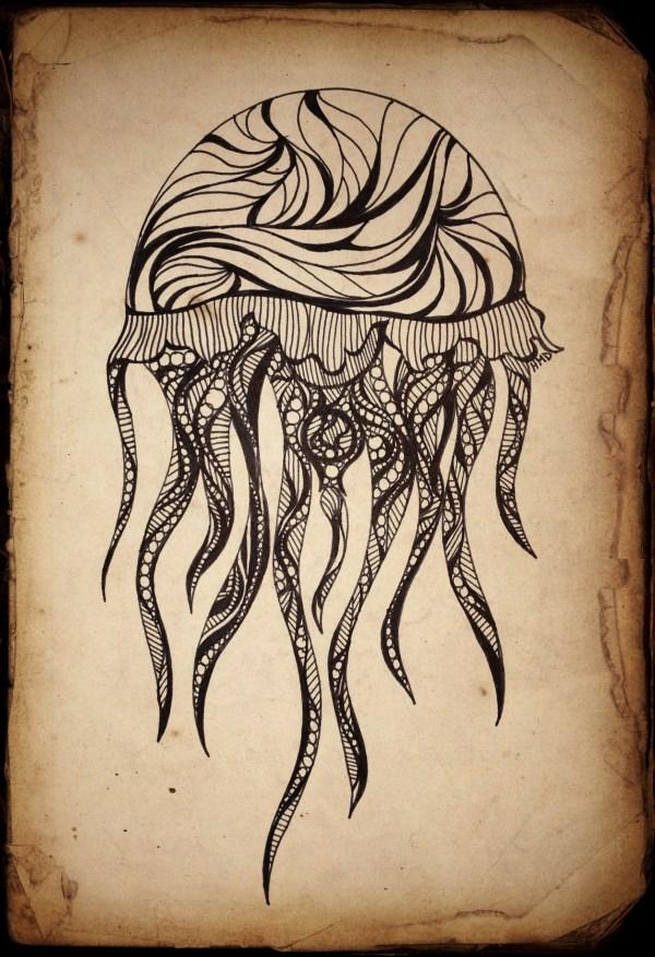Jellyfish Doodle Addicted