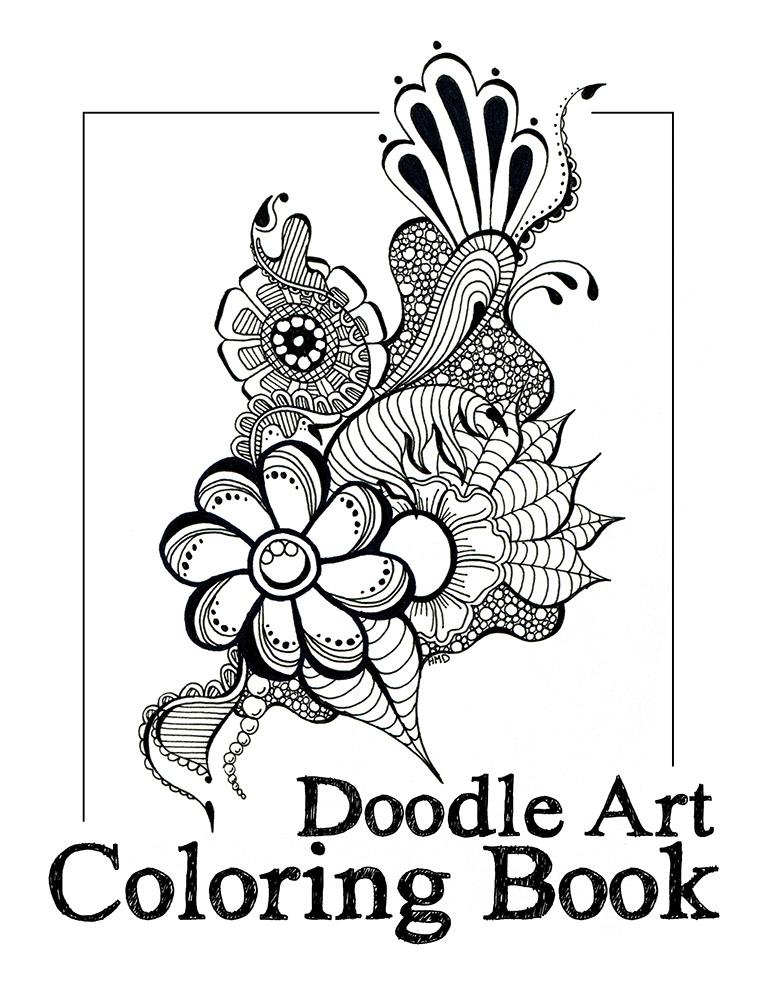 DoodleArtColoringBookCover zentangle sharpie art markers
