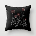 Throw pillow http://society6.com/HeidiDenney/Deco-Flora-Black_Pillow#25=193&18=129