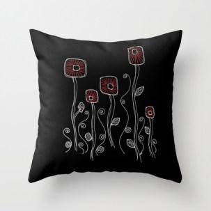 Throw pillow http://society6.com/HeidiDenney/Deco-Flora-Black_Pillow#25=193&18=129