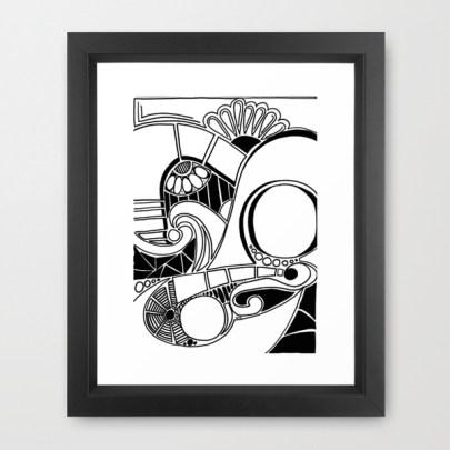 Framed art http://society6.com/HeidiDenney/Retro-Beat_Framed-Print#12=52&13=54