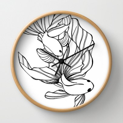 Wall clock http://society6.com/HeidiDenney/Dance-of-the-Fighters_Wall-Clock#33=282&34=286