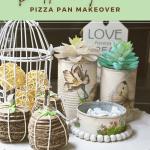 Diy Dollar Tree Pizza Pan Shabby Chic Makeover