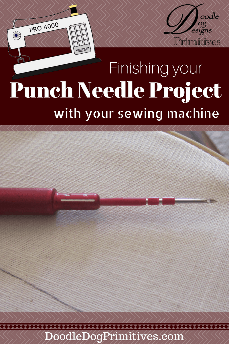 Finishing your punch needle project with your sewing