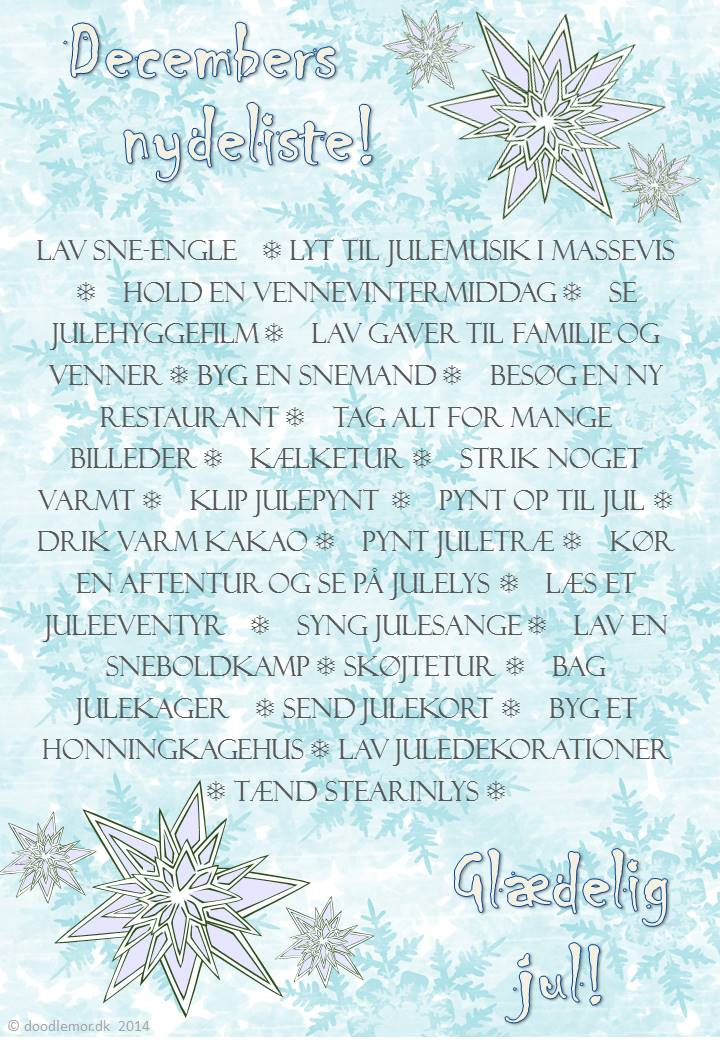 Min December Nydeliste