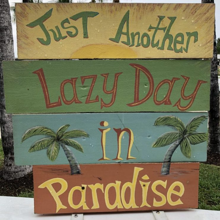 Just another lazy day in paradise