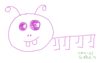 a bad drawing of a caterpillar