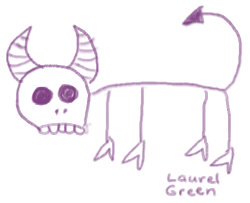 a doodle of an evil-looking critter