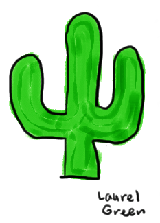 a drawing of a cactus