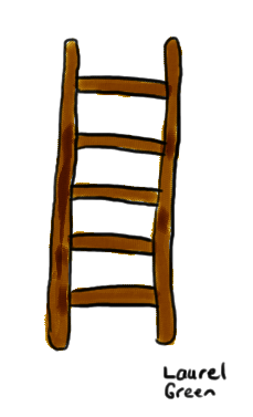 a drawing of a ladder