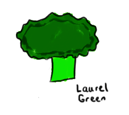 a drawing of some broccoli