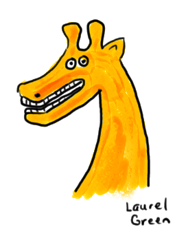 a drawing of a stupid-looking giraffe