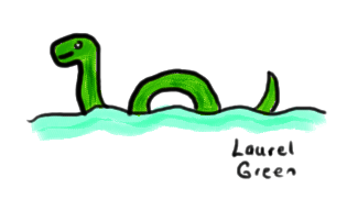 a drawing of the loch ness monster