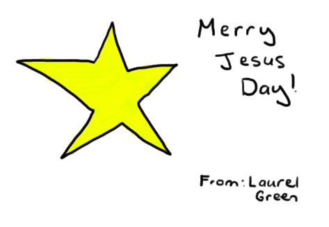 a drawing of the star of bethlehem