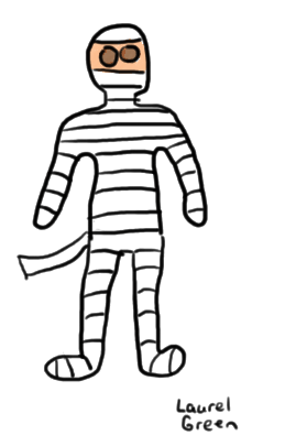 a drawing of a mummy
