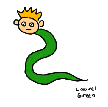 a drawing of a snake with the head of a human