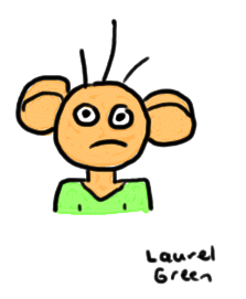 a drawing of a guy with big ears
