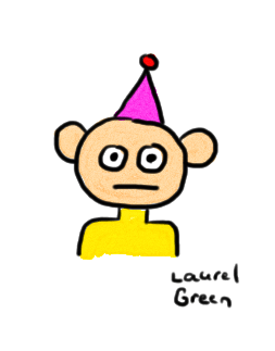 a drawing of a guy wearing a bad hat