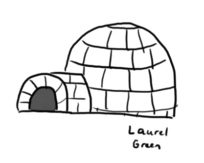 a drawing of an igloo