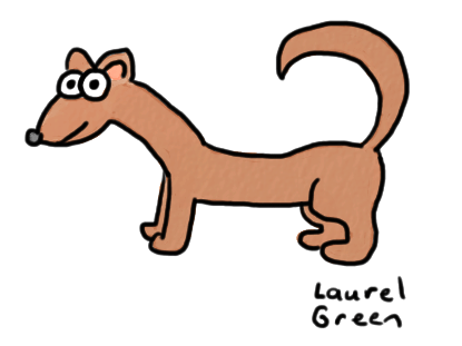 a drawing of a weasel