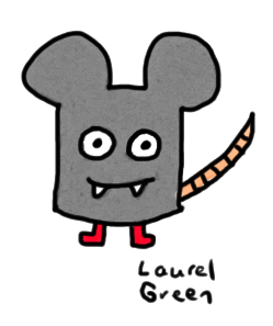a drawing of a monstrous mouse