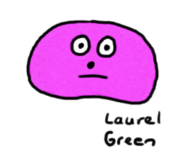 a drawing of a jelly bean that looks upset