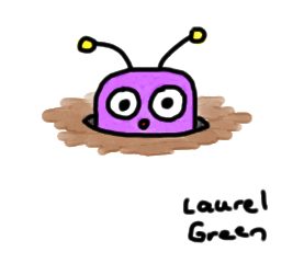 a drawing of an insect in a hole