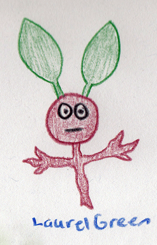 a drawing of a weird stick creature