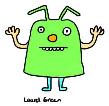 a drawing of a dude with antennae