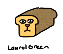 a drawing of a hybrid between a cat and a loaf of bread