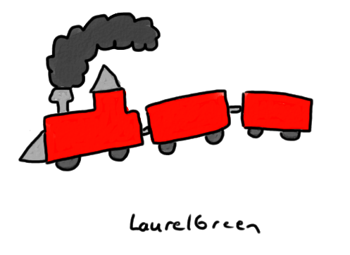 a drawing of a train