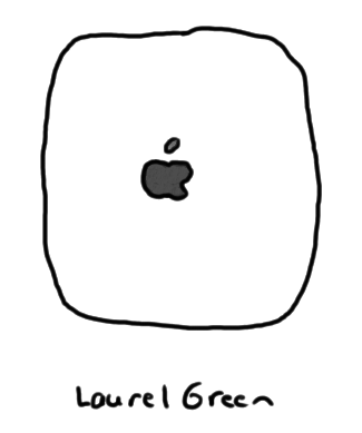 a drawing of an apple ipad air