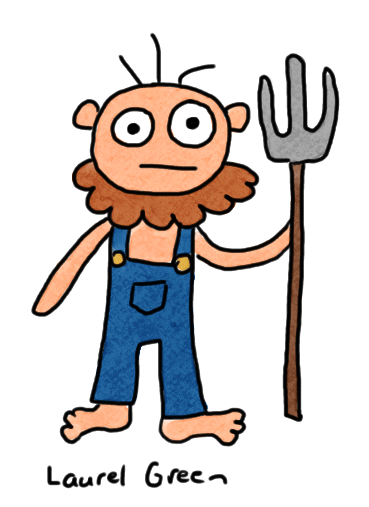 a drawing of a farmer