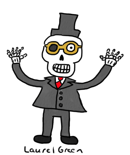 a drawing of a voodoo baron