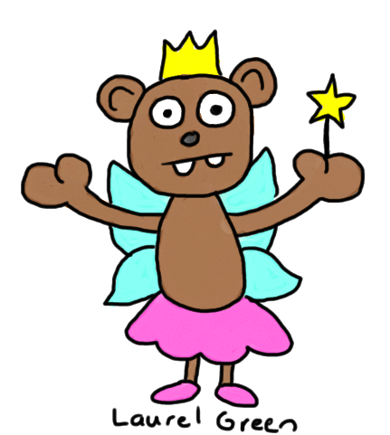a drawing of a fairy bear