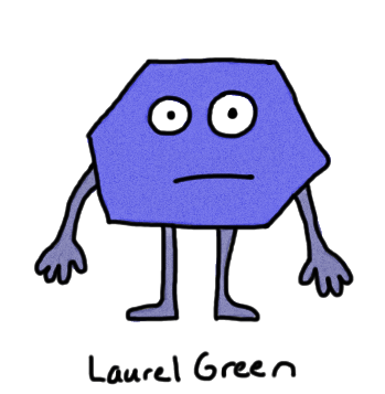 a drawing of a hexagonal person