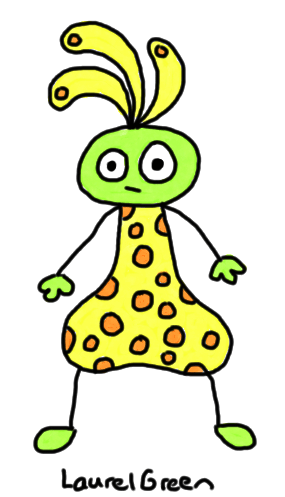 a drawing of a spotted creature