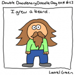 a drawing of laurel with a beard