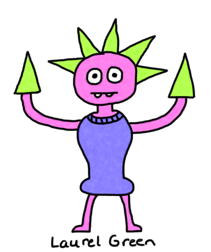 a drawing of a guy with spikes for hands
