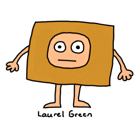 a drawing of a guy wearing a box