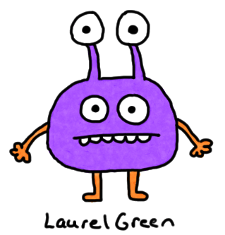 a drawing of an alien with four eyes