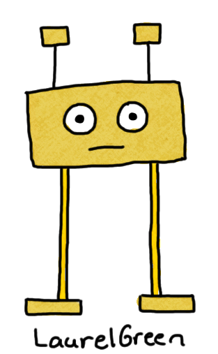 a drawing of a boxy cardboard creature